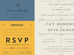 Invite Type #invite #rsvp #vintage #graphics #typography