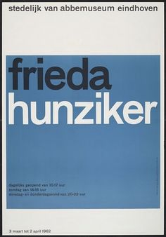 Flyer Design Goodness - A flyer and poster design blog: Wim Crouwel - selected graphic designs and prints from museum archive #swiss #print #vintage #poster #typography