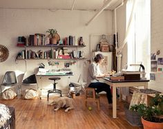 Britta Nickel #interior #design #living #desk #workspace #style