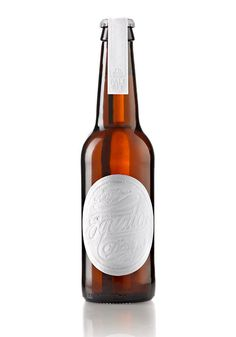 Beautiful Equator beer packaging #beer #white #bottle #packaging #letterpress