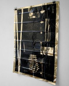 DRKSHPES #poster #foil #black on gold