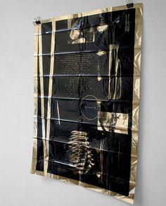 DRKSHPES #poster #foil #black on gold