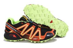 Salomon Speedcross 3 Athletic Running Sports Man Shoes Outdoor black voltgreen orange