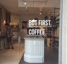 Yes.. But first, Coffee