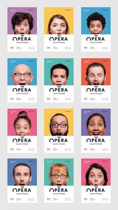 Opera Saint Etienne by Graphéine #logo #branding #colors #layout