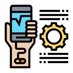 See more icon inspiration related to use, gear, hands and gestures, addiction, electronics, smartphone, information, hand, social media, cellphone, mobile and technology on Flaticon.