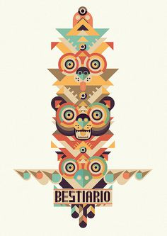 http://www.gutierrez.com.uy #totem #vector #bunny #owl #bestiario #animals #bear
