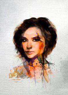 Digital Victoria Becham portrait by Neil duerden
