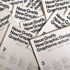 New Grafik Magazine. An icon of swiss design / international typographic style. via Javier Garcia