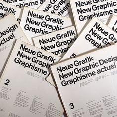 New Grafik Magazine. An icon of swiss design / international typographic style