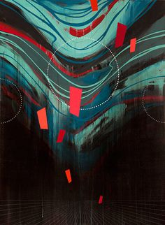 erikotto 02 #abstract #geometry #red #paint #blue
