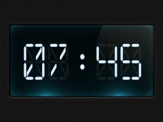 Dribbble - Digital clock by Diego Monzon #clock