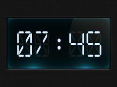 Dribbble - Digital clock by Diego Monzon