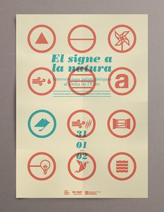 """Promotional poster from """"El signe a la natura"""" Magazine. Design by David Rico #icons #grid #nature #poster #editorial #magazine"""