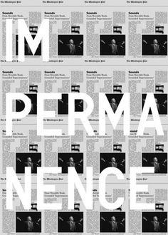 Impermanence | Shiro to Kuro #print #design #graphic
