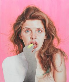 Jenny Morgan #girl #paint #hair #portrait #painting