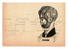 Heitor Villa-lobos | #illustration #oldpaper #alexandreruda #illustration #oldpaper #alexandreruda
