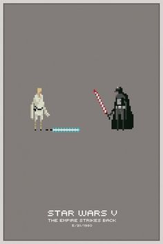 Star Wars Pixel Posters #star #illustration #wars #pixel