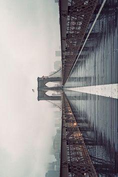CJWHO ™ (Brooklyn Bridge in Fog, 2012 by James...) #fog #design #landscape #photography #architecture #art #york #brooklyn #new