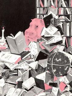 Vintage Kids' Books My Kid Loves: The Unhappy Hippopotamus #illustration #books