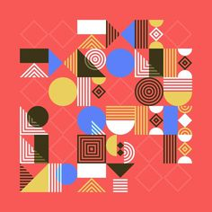 Tamer Koseli | Foragepress.com #elemental #color #shapes #puzzle #type #typography