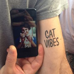 Cat Vibes #feline #cat #temporary #tattoo #cats #tattoos #vibes #type #fan