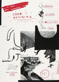 collage, type, xerox, sketchy, red, black, hand drawn