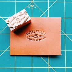 Leather, branding, logo, typography