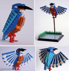 Colossal | An art and design blog. #lego #design #bird #art #animal