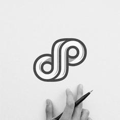 """Logomark. Merging of letter """"d"""" and """"p""""⠀"""