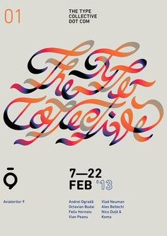 Hello people, the Type Collective proudly invites you on the 7th of February to our first ever show, 01 — The Type Collective.RSVPFollow #poster #typography