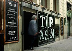 Tapas 24 Restaurant Branding 48166 3 – Restaurant branding, marketing and other notes on various design topics #logo #brand #identity #branding