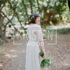 Kristen Wood | Branding by Rowan Made #logo #wedding