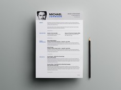 Free Clean and Modern Resume Template in PSD Format for Job Seeker
