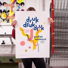 We designed and printed this poster for the graphic festival #drukdrukdruk organised by @kunstwerkt 6th & 7th of May all over Flanders and Brussels #monnijungle #screenprint