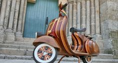 Wooden Vespa #wood #vespa #design