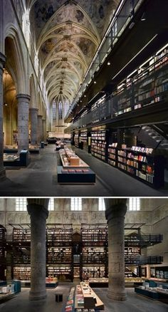 Flavorwire » The 20 Most Beautiful Bookstores in the World #bookstore #church #dominican #holland