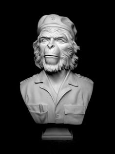 tumblr_l9m134K2O01qa4pypo1_500.jpg (450×600) #sculpture #che #ape #bust #art