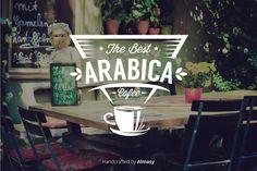 The Best Arabica Coffee #badge #retro #vintage #logo #designlogo #typography