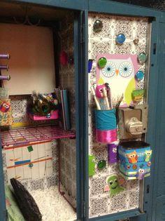 Contact Paper Locker Decoration #design #makeup #decor #locker #decoration