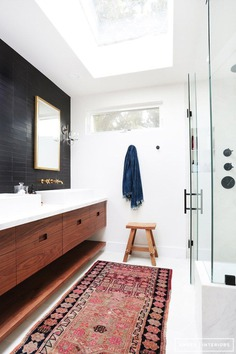 Image result for bathroom with moroccan rug