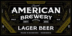 American Brewery Webfont #packaging #type #print