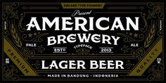 American Brewery Webfont #packaging #type #print
