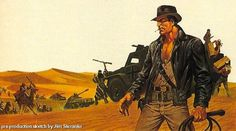 Original 'Indiana Jones' Concept Art by Jim Steranko   /Film #jones #indiana #whip #illustration #concept #art