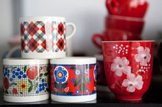 Design*Sponge » Blog Archive » sneak peek: kirra jamison + dane lovett #coffee #colors #mug #flowers