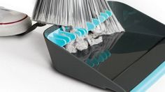 The dustpan that helps you clean with ease, save time and save your back when sweeping. The Broom Groomer is a keen idea for tidy floors. #design #home #product #industrial #dustpan