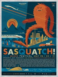 All: Sasquatch! Music Festival #sasquatch #seattle #design #illustration #futura #creature