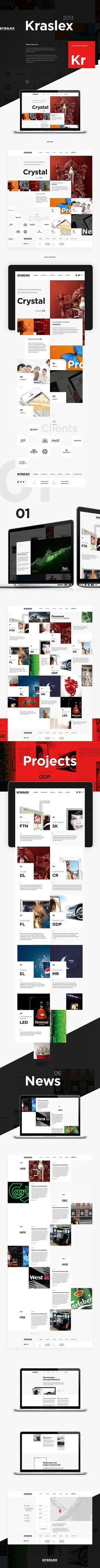 K R S L X by Alexey Masalov, via Behance #design #bold #black #corporate #web