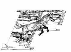 Fox - F #Fox #F #Alphabet #micron #letter #poster #lettering #pen #illustration