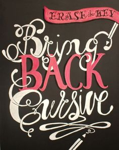 "Typeverything.com - ""Bring back Cursive"" project... - Typeverything #cursive #design #typography"